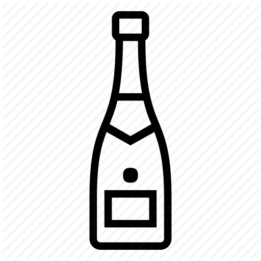 Bottle, Champagne, Cork Icon