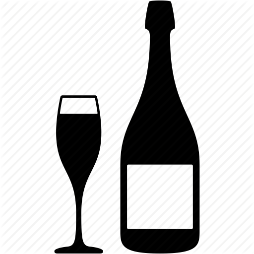 Bottle, Champagne, Drink, Glass, Restaurent, Wine, Wine Cup Icon