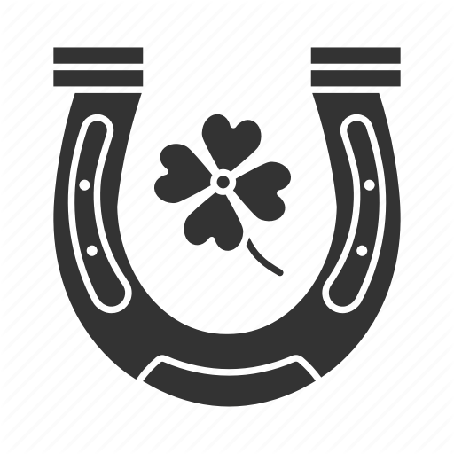 Chance, Clover, Fortune, Four Leaf, Horseshoe, Luck Icon