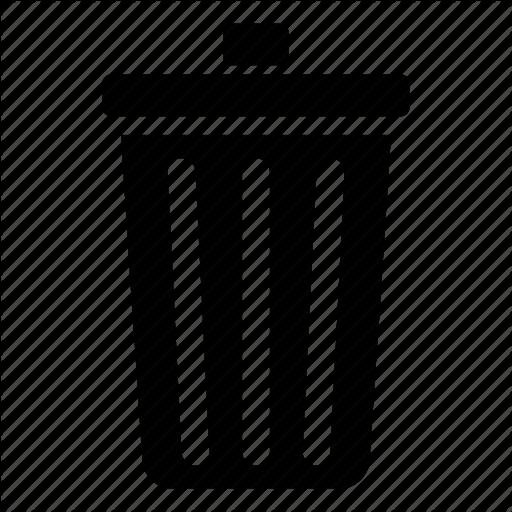Clear, Delete, Destroy, Dustbin, Erase, Recycle Bin, Remove, Trash