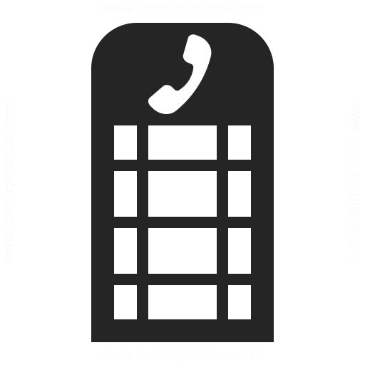 Telephone Box Icon Iconexperience