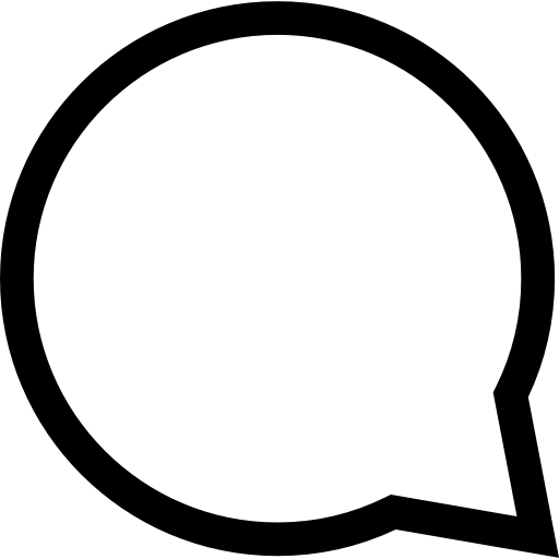 Circular Speech Bubble Outline Icons Free Download