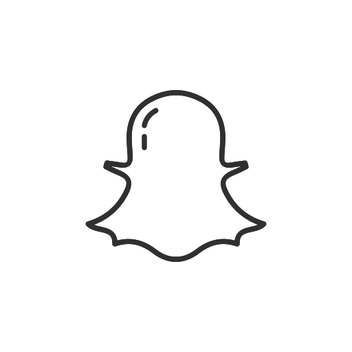 Snap Chat Black And White Logo Png Images