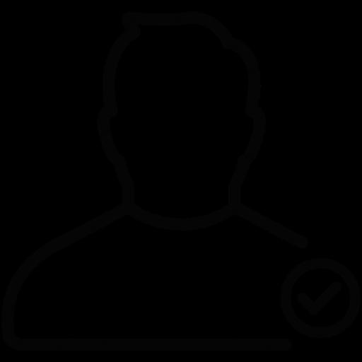 Download User Check,male,man,person,profile,check Icon Inventicons