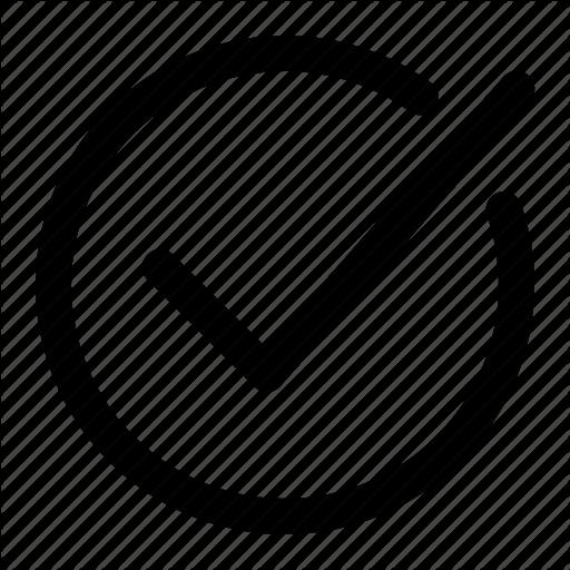 Check, Check Mark, Checkmark, Circle Icon