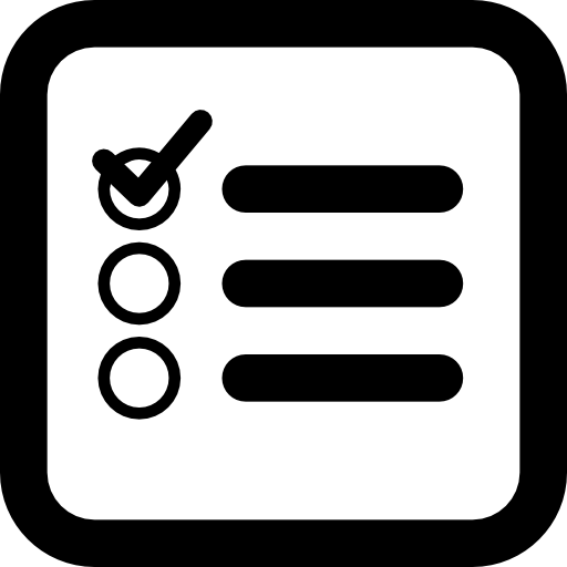 Checklist Square Interface Symbol Of Rounded Corners Icons Free