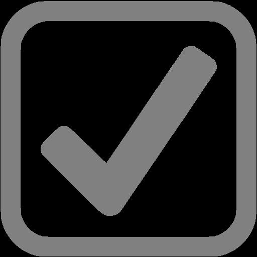 Gray Checked Checkbox Icon