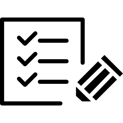Paper Checklist With Pen Icons Free Download