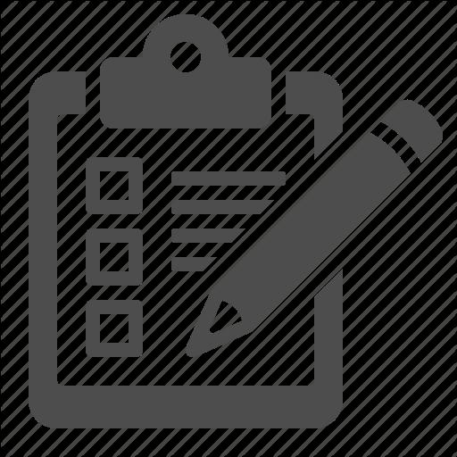Checklist, Clipboard, Delivery, Logistics, Pencil Icon