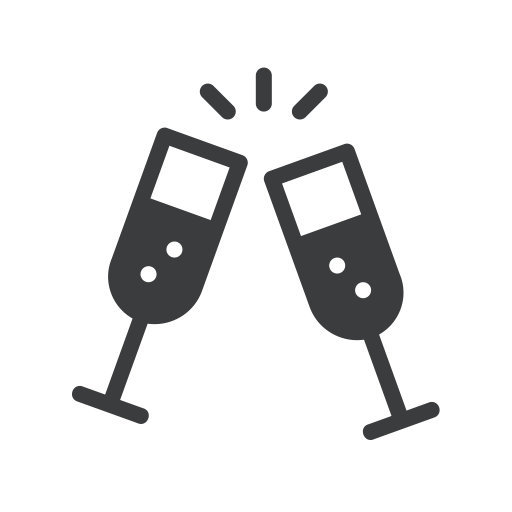 New, Party, Drink, Year, Champagne, Treat, Cheers Icon