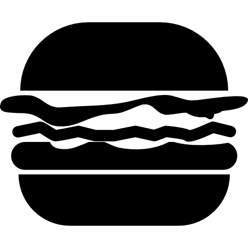 Hamburger Variant With Cheese, Patty And Lettuce Icons Free Download