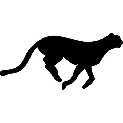 Cheetah Feline Silhouette Icons Free Download