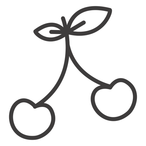 Simple Cherry Stroke Icon