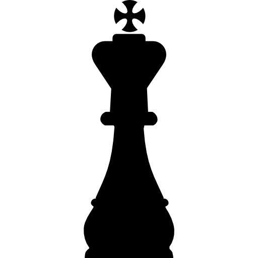 King Chess Piece Shape Icons Free Download