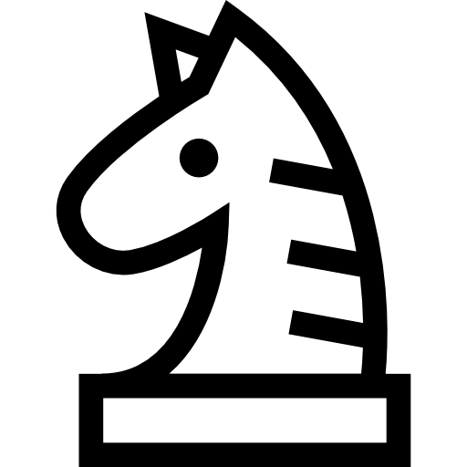Knight Chess Piece Outline Icons Free Download