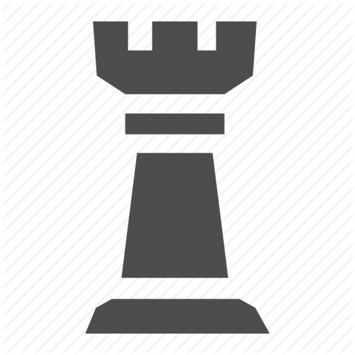 Chess, Game, Piece, Rook, Strategy Icon