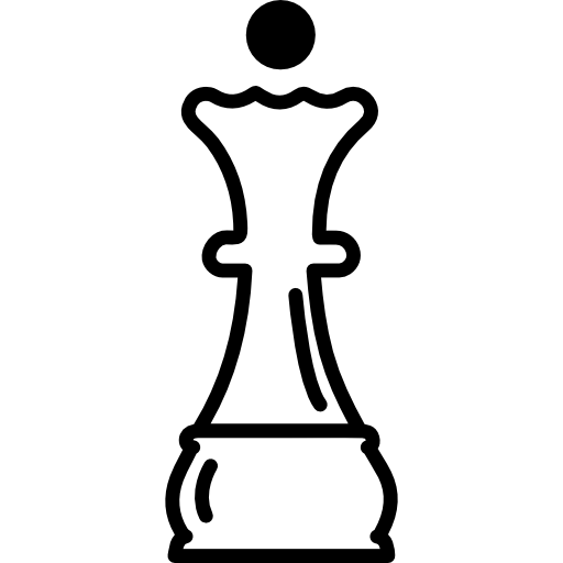 Queen Chess Piece Outline Icons Free Download
