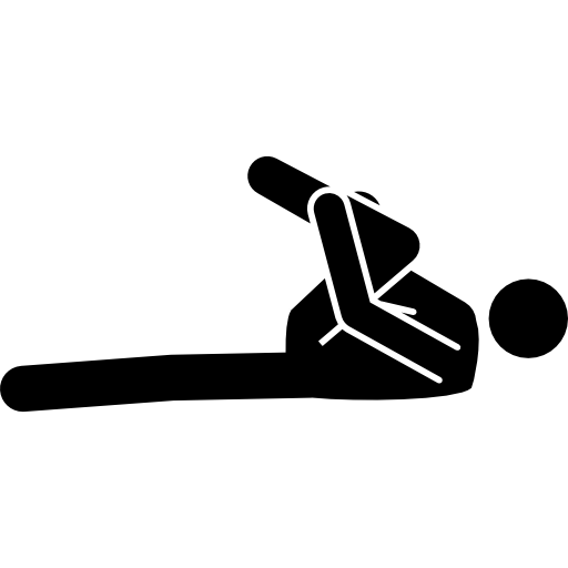 Football Player Stretching With Flexed Leg To Chest Icons Free