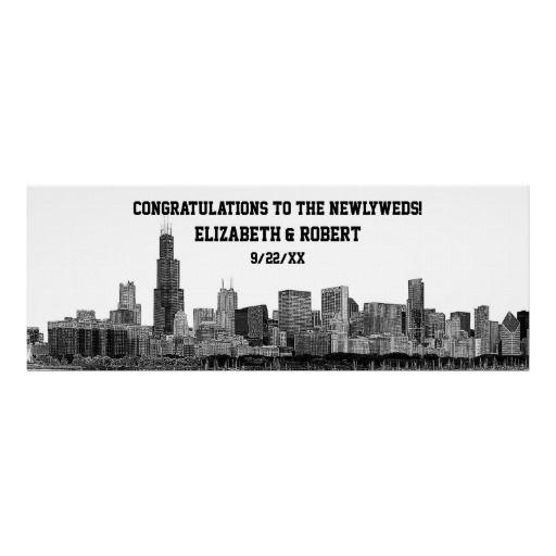 Skyline Poster Crafts Chicago Skyline, Chicago