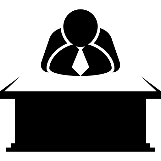 Chief Sitting Behind A Desktop Icons Free Download