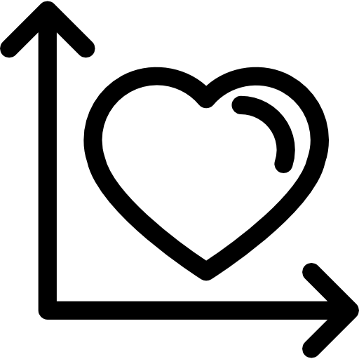 Right Angle Line Beside The Heart Icons Free Download