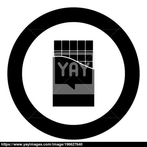 Chocolate Bar Icon Black Color In Circle Vector