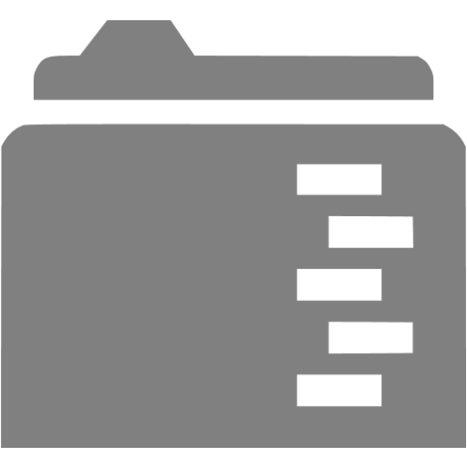 Gray Full Folder Icon