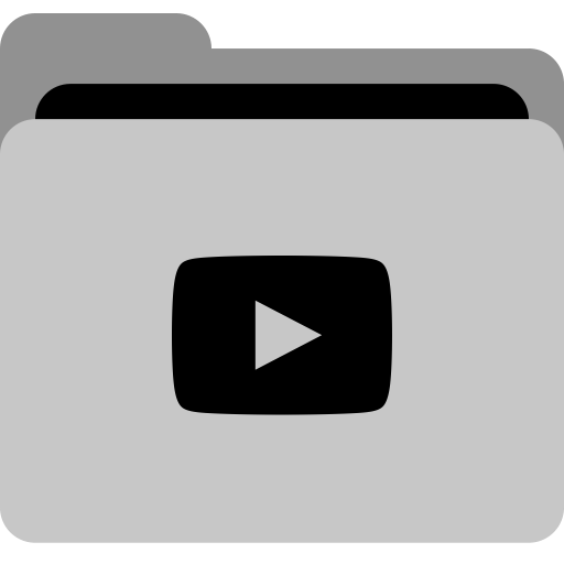 Youtube, Collection, App, Storage, Social, Video, Folder Icon