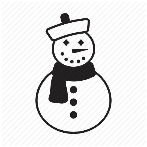 And, Christmas, Elements, Pack, Snowman, White Icon