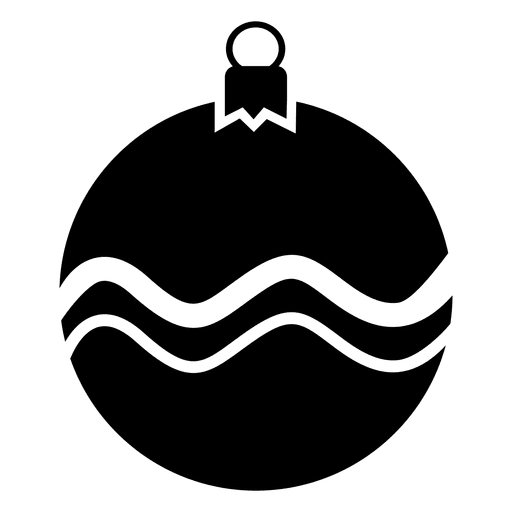 Bauble Silhouette Christmas Icon
