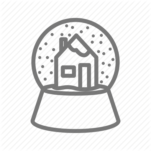 Christmas, Decoration, Glass, Snow, Snowglobe Icon