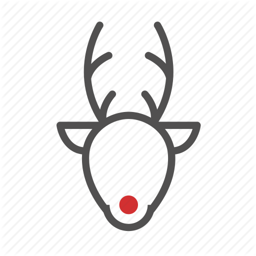 Animal, Celebration, Christmas, Rudolph Icon