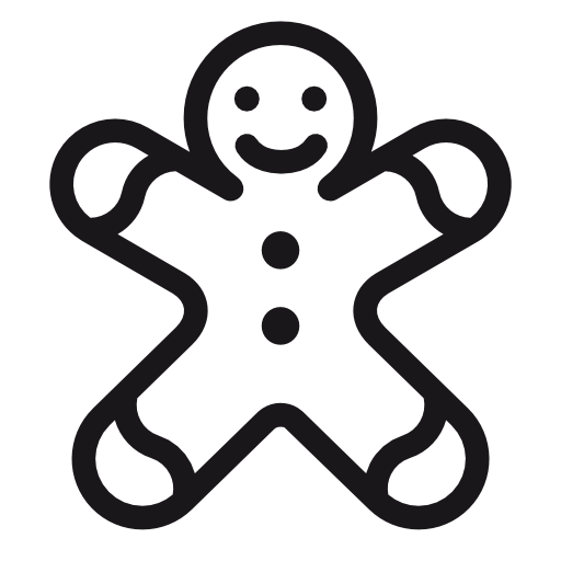 Gingerbread, Man, Christmas Icon Free Of Christmas Icons