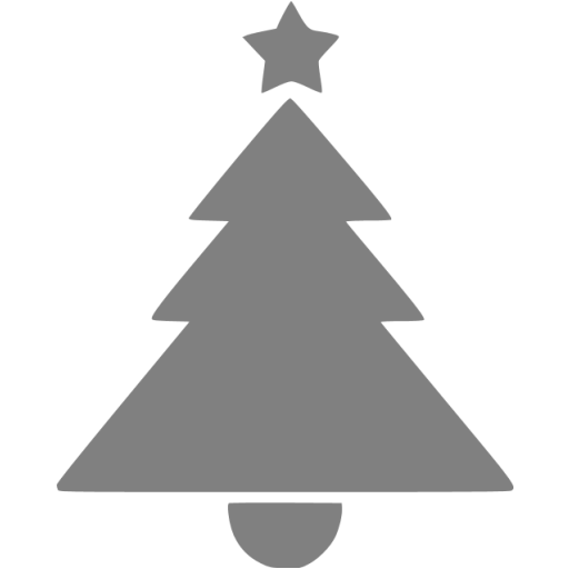 Gray Christmas Icon