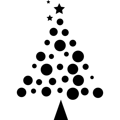 Christmas Tree Made Of Balls Icons Free Download