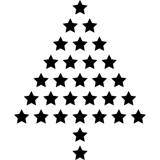 Christmas Tree Made Of Little Fivepointed Stars Icons Free Download
