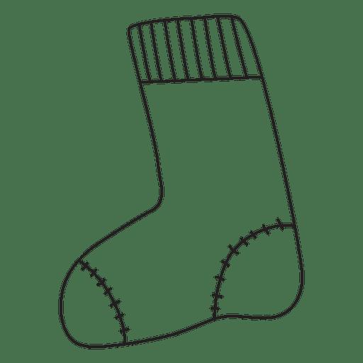 Christmas Stocking Hand Drawn Stroke Icon