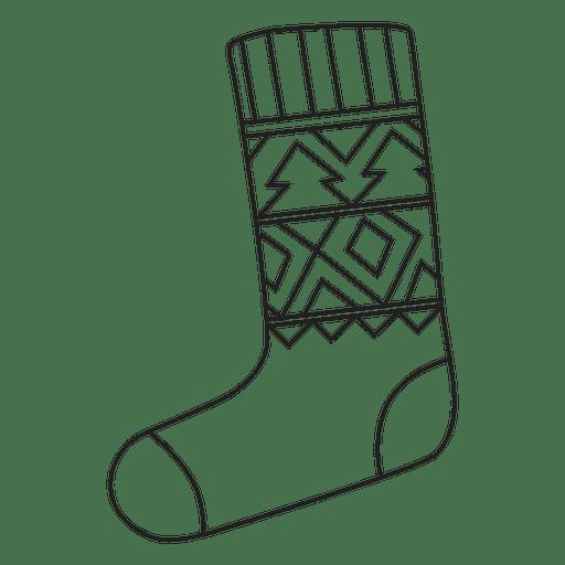 Christmas Stocking Stroke Hand Drawn Icon