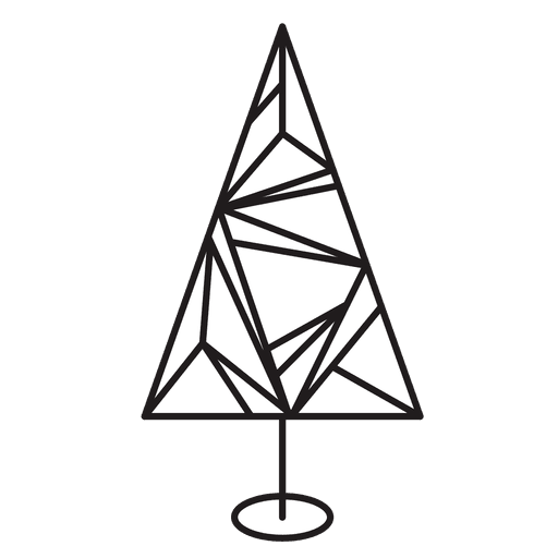 Christmas Tree Geometric Stroke Icon