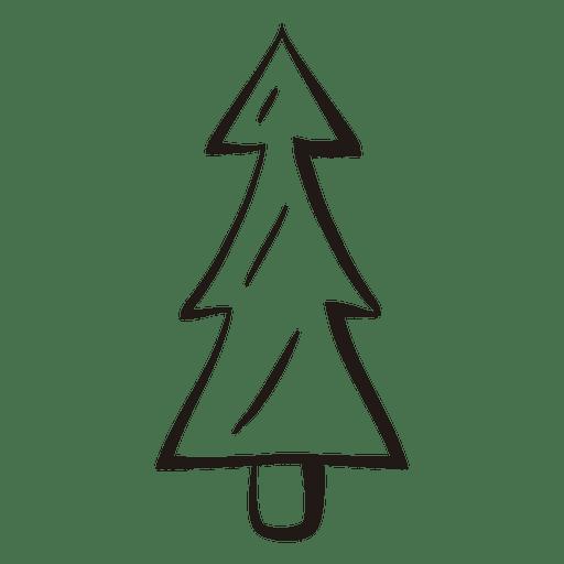 Christmas Tree Stroke Icon