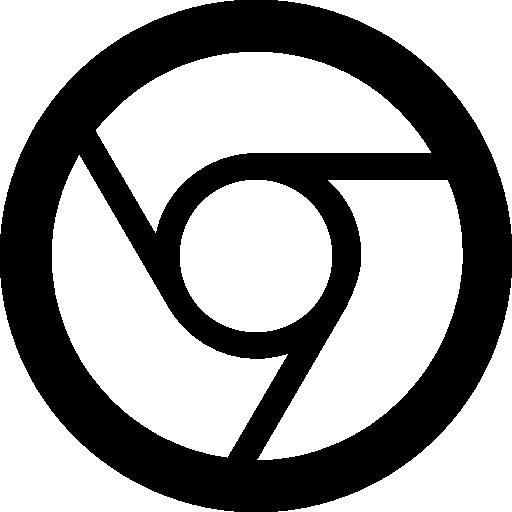 Google Chrome Logo Filled With White Colour