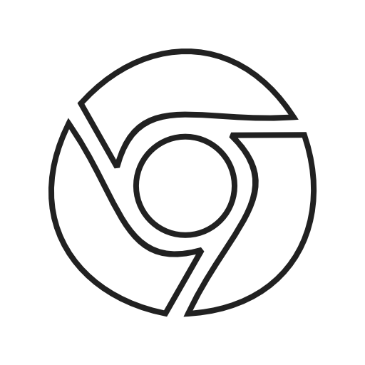 Google, Chrome Icon Free Of Social Media Logos Ii Linear Black