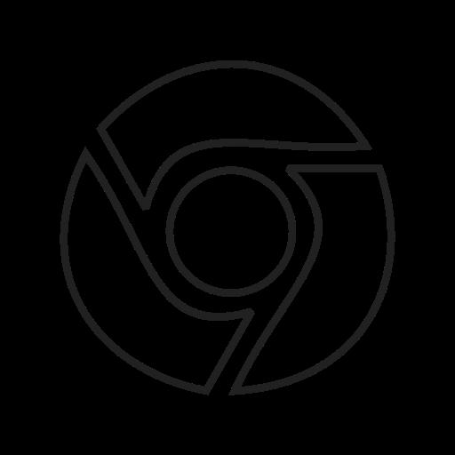 Chrome Outline Icon