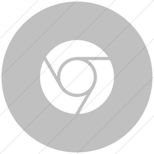 Flat Circle White On Silver Raphael Chrome Icon