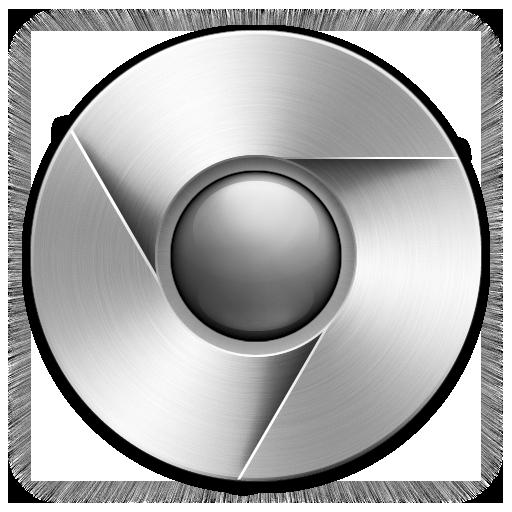 Grey Chrome Icon