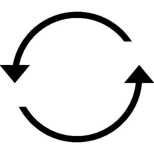 Circular Arrows Refresh Interface Symbol