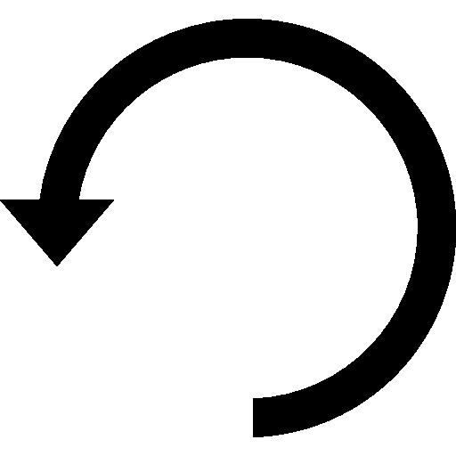Counterclockwise Rotating Circular Arrow Symbol Icons Free Download
