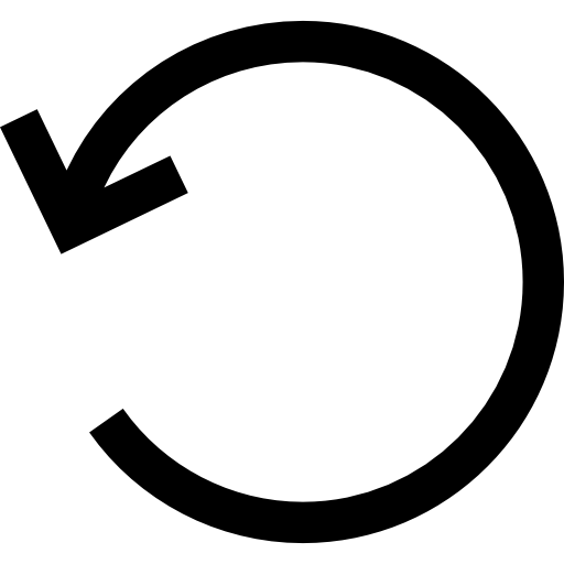 Rotate Left Circular Arrow Interface Symbol Icons Free Download