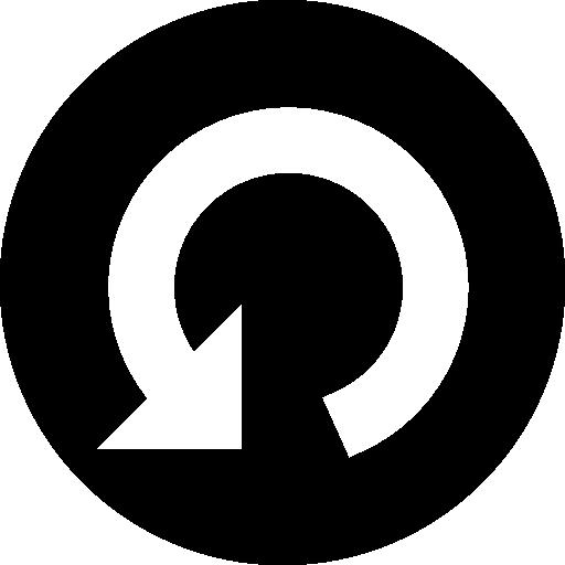 Rotating Circular Arrow Symbol In A Circle Icons Free Download