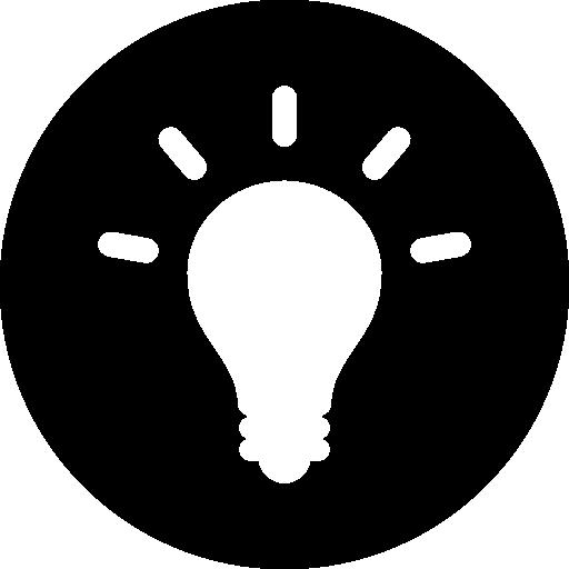 Light Bulb Inside Circle